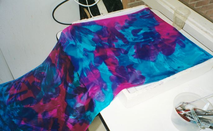 Waxing Lyrical On My First Use of Hot Wax on Hand-painted Silk - Teena Hughes hand-ainted silk scarf
