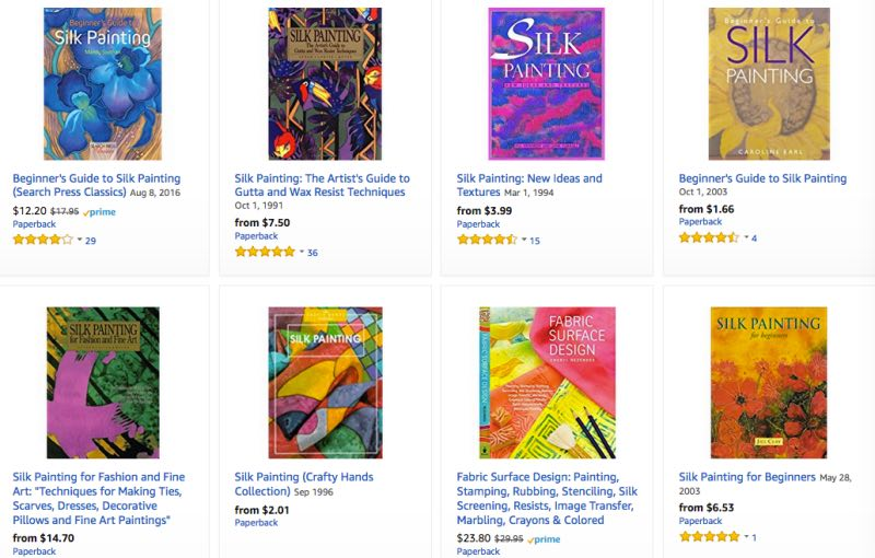 Books for Silk Painting selected by Teena Hughes